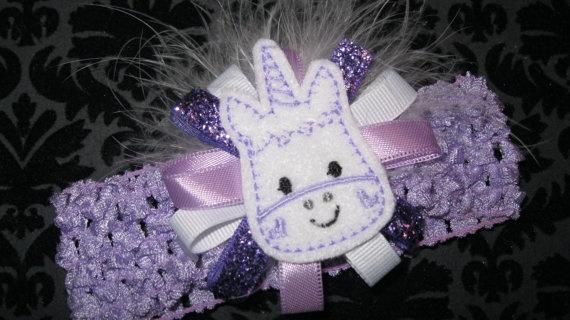 Crochet Unicorn Hair : Adorable Unicorn Crochet Headband by JuliaBowTiques on Etsy, $8.00