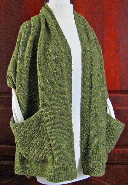 Knitting Pattern For A Shawl With Pockets : LisaKnits...Readers Wrap with pockets Knitting Pinterest