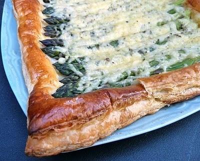 Asparagus and Gruyere Tart   Mostly vegetarian   Pinterest