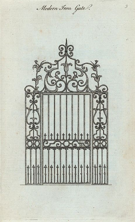 Modern iron gate  architectural drawings and maps