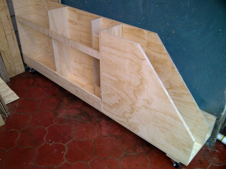 diy shelving ideas garage - Scrap lumber storage Basement organization