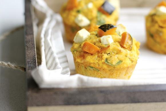 butternut squash & feta muffins | Muffins | Pinterest