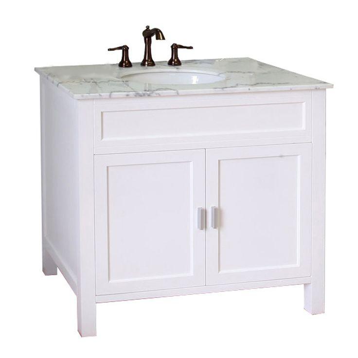bellaterra home white undermount single sink bathroom