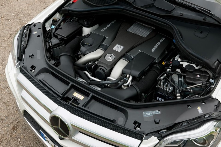 The AMG 5.5-liter V8 biturbo engine of the Mercedes-Benz GL63 AMG.  European model shown.  For more information, visit: http://mbenz.us/LBgBAZ