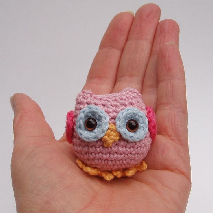 Tiny Amigurumi Crochet Patterns : Crochet owl pattern pdf, tiny owl amigurumi crochet pattern