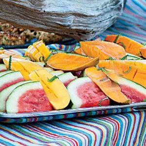 Summer Fruit with Cardamom-Lime Syrup Recipe | MyRecipes.com Mobile
