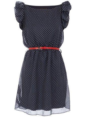 Navy Polka  Dress on Dorothy Perkins Navy Polka Dot Dress   Better Than My Gym Clothes