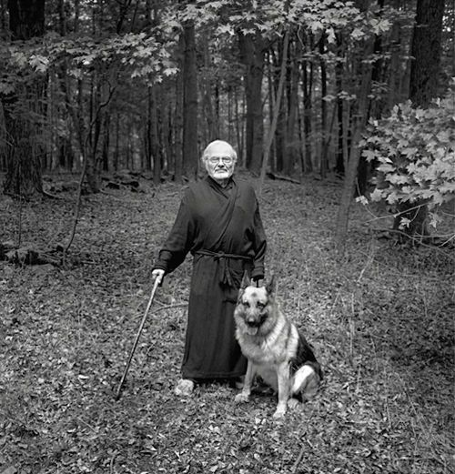 Maurice Sendak and his German shepherd Herman. Love. #gsd