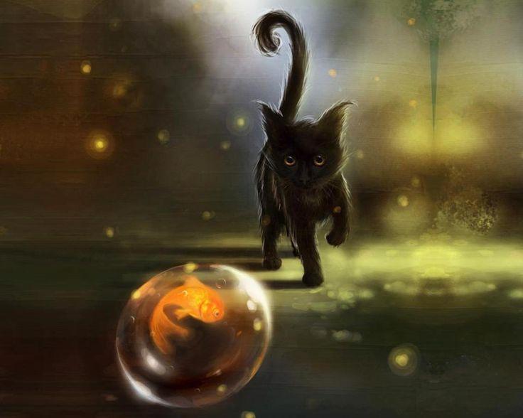 Magical animals fantasy fish bubble