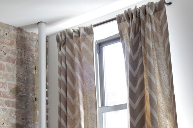 chevron curtains...painters cloth! | Dream Rooms | Pinterest