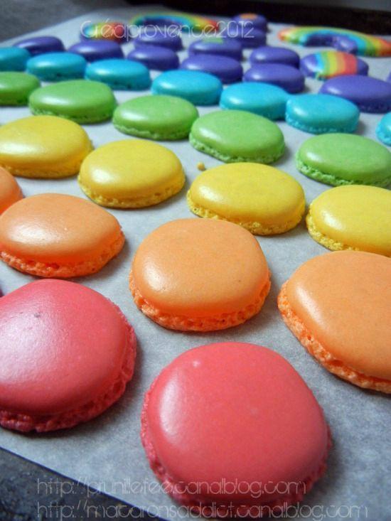 rainbow macarons sweet sweet love affair pinterest. Black Bedroom Furniture Sets. Home Design Ideas