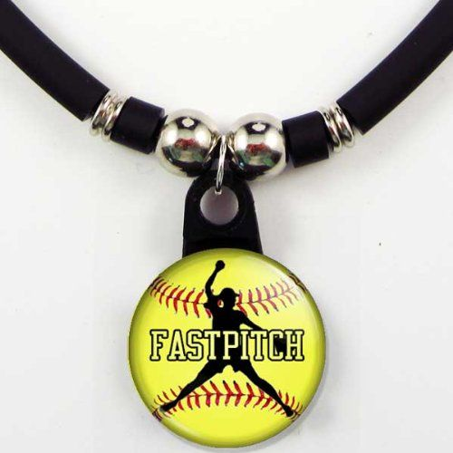 Amazon Com Personalized Softball Fastpitch Necklace Jewelry