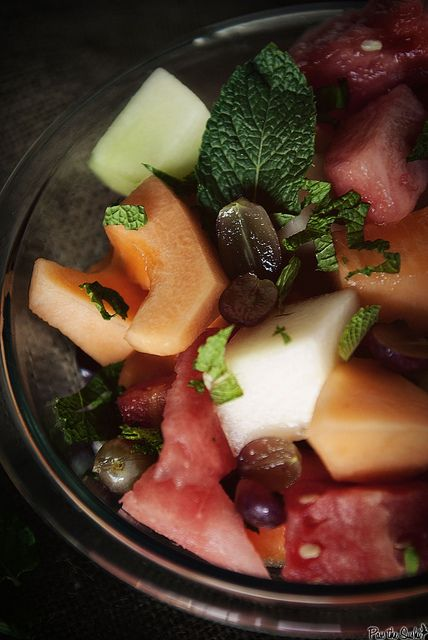 Fruit Salad with Honey Lime Syrup: 1/4 cup fresh lime juice, 1/4 cup ...