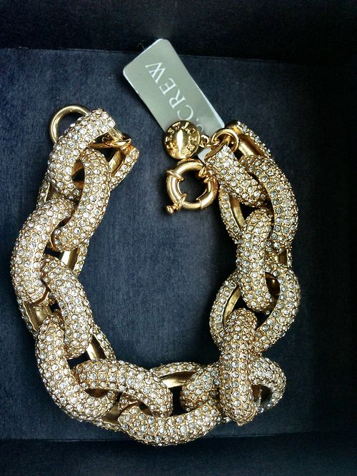 Gold J.Crew link bracelet.