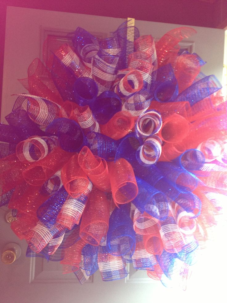 deco mesh fourth of july wreaths