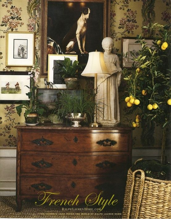 Ralph lauren french country vignette home decor for Decor vignette