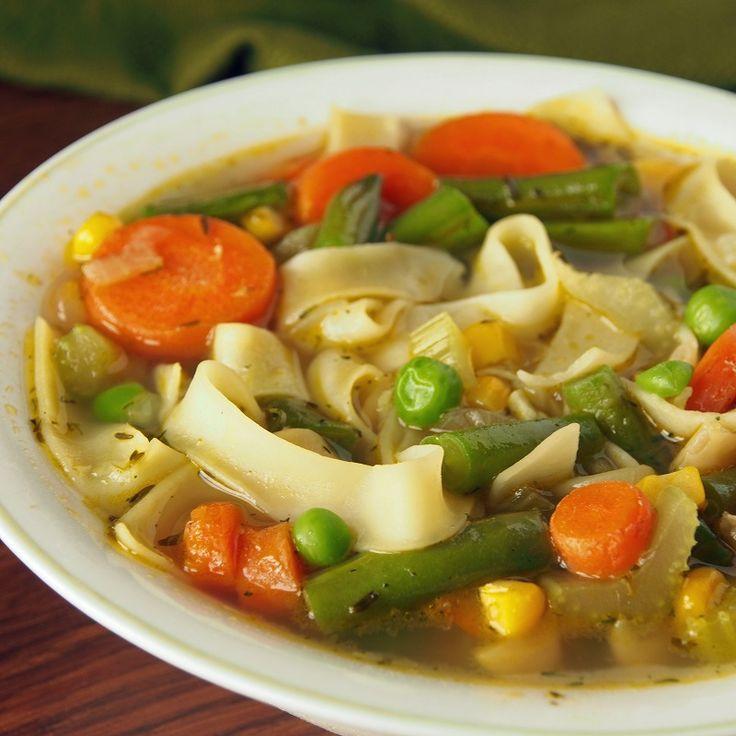 "Vegan ""Chicken"" Noodle Soup! | Soups and Stews | Pinterest"