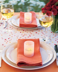 Personalized or other decorated votives