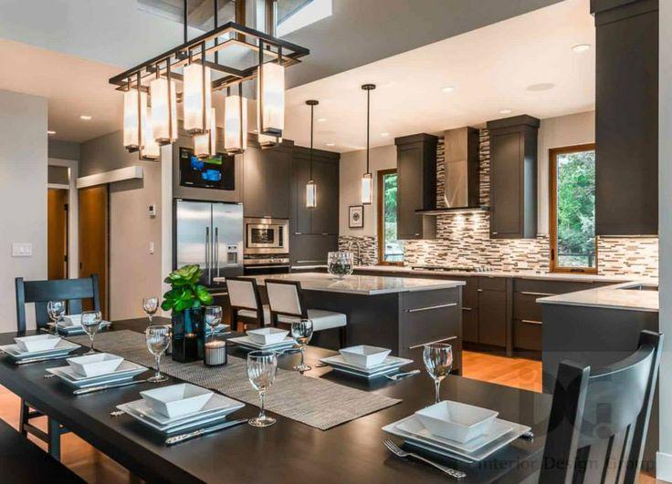 dining area open concept kitchen home decor pinterest