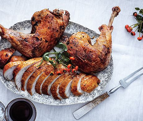 Brined Roast Turkey Breast with Confit Legs - Two distinct cooking ...