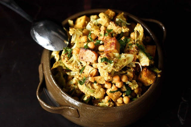 ... Cauliflower with Chickpeas & Caramelized Tofu | Feasting At Home