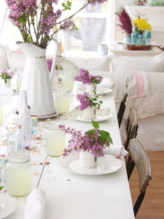 Beautiful for a tea! Lilac is lovely!