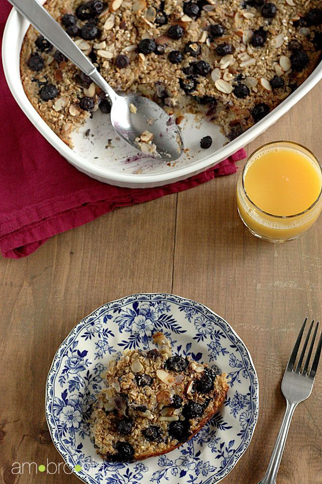 Baked Oatmeal with Blueberries and Bananas Recipe by Ambrosiabaking ...