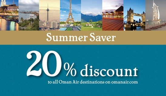 Oman Air | Summer Saver! 20% Discount on Business and Economy Class Fares