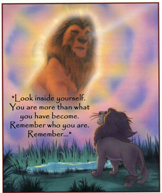 Lion king remember who you are rafiki