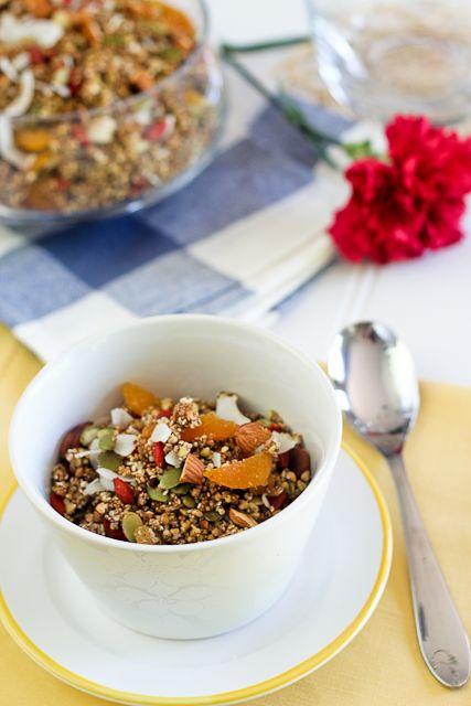Grain Free Granola and Fruit Salad