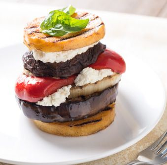 Try this delicious Balsamic Grilled Vegetable and Goat Cheese Sandwich ...