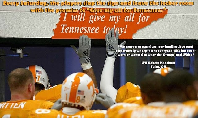 I will give my all for Tennessee today!
