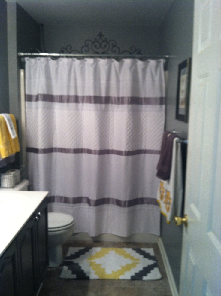 Gray and yellow bathroom home decorating pinterest - Bathroom yellow and gray ...