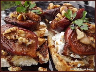 La Difference Catering: Roasted Balsamic Fig Bruschetta, Goat's Cheese ...