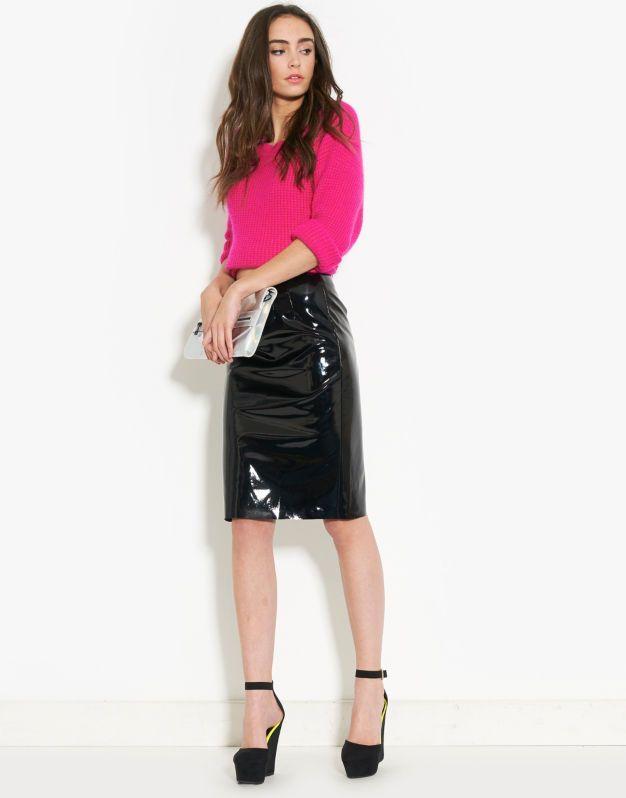 ribbon vinyl pencil skirt fabulous