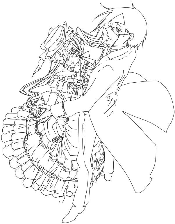 coloring page of black butler ceil coloring pages - Black Butler Chibi Coloring Pages