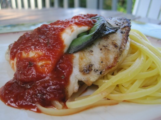 Grilled Chicken Parmesan...made this for company and they LOVED it. So ...
