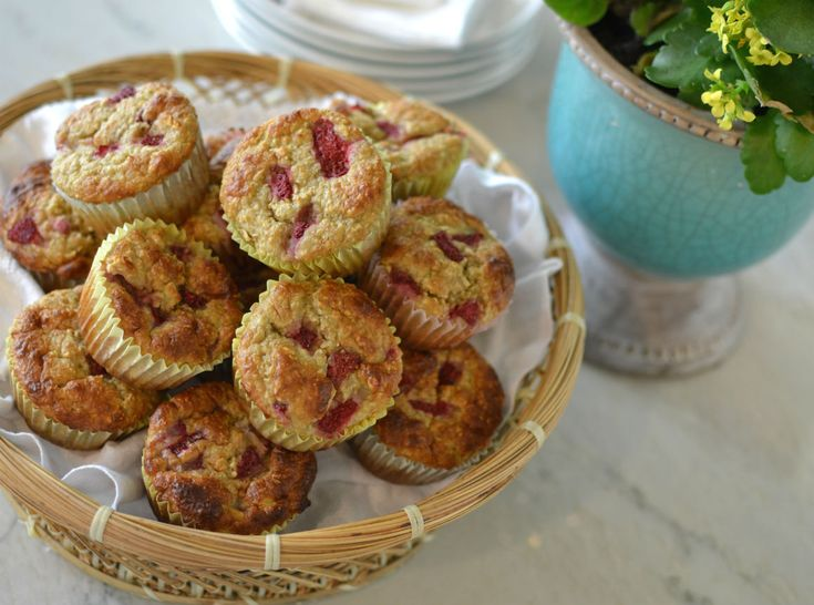 Strawberry Banana Oatmeal Muffins | for the Goldbergs | Pinterest