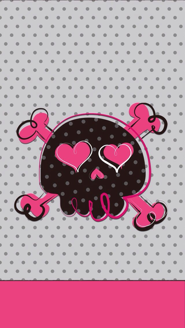 girly skull iphone wallpaper background cute wallpapers