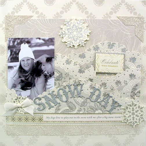 Anna griffin Cecile Christmas Page