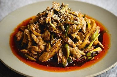 Cold Chicken with a Spicy Sichuanese Sauce (Liang Ban Ji ...