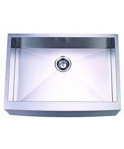 Stainless Steel Undermount Farmhouse Sink : undermount Farmhouse kitchen sink. The heavy 18-gauge stainless steel ...
