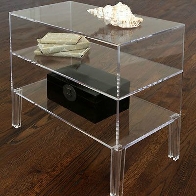 ... LUCITE SIDE or END TABLE, Nightstand, 29