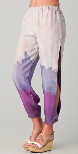 Watercolor pants by Lindsey Thornburg.