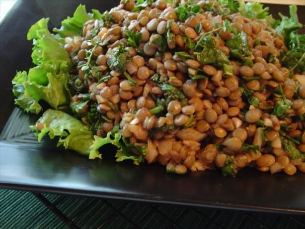 Lentil and Spinach Salad With Onion, Cumin and Garlic. http://www.food ...