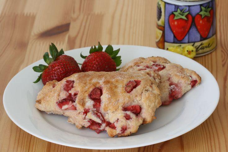 Fresh Strawberry Scones   i blame bountiful baskets   Pinterest