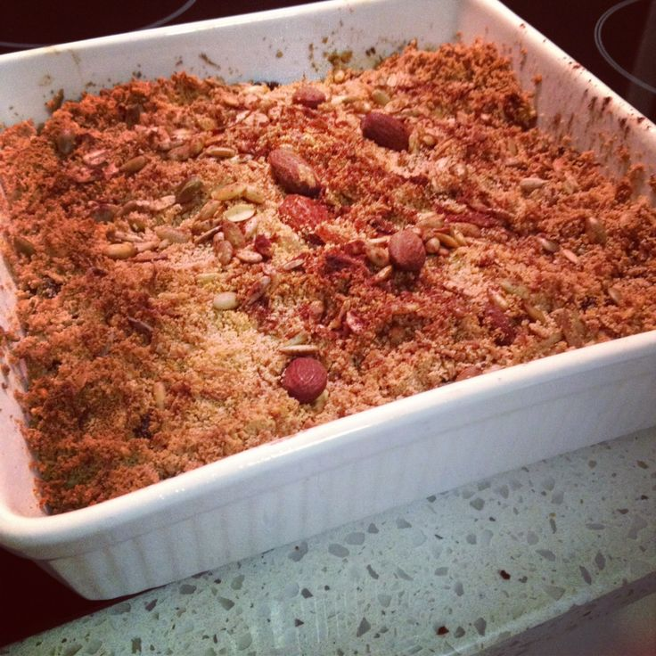 Paleo Apple Berry Crumble (This is really, really good! Tastes just ...