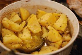 In Her Kitchen: Greek Style Potatoes | Accompaniments | Pinterest