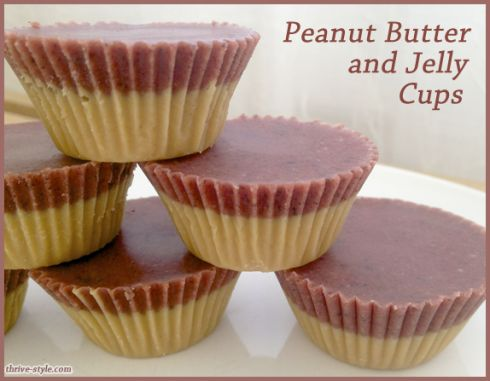 """Peanut Butter"""" and Jelly Cups! Use any nut butter you like... These ..."""
