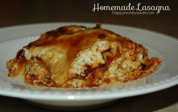 Easy Lasagna Recipe: I have made this one many times, and frozen it ...